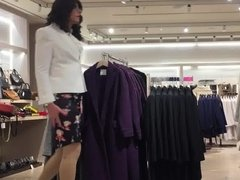shopping for a new white jacket