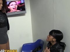 Blowjob With Serena Ali And Amber Steel - Gloryhole