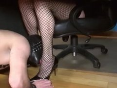 Tranny dominating and fucking a submissive slave
