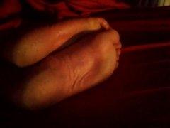 Cum on her nice soles 9