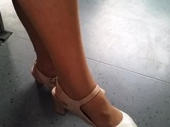 hot granny in nylon legs