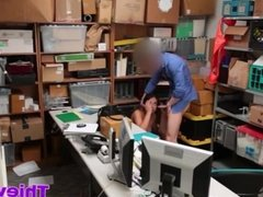 Shoplifter Blair gets caught stealing by PI