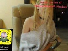 Hot blonde teen sex Her Snapchat: SusanPorn943