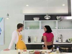 CUMKITCHEN: Sexy Teen Violet Star Gets Fucked in the Kitchen