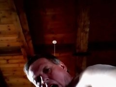 Perv sub fag dad coming on cam by mistake