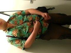 Chubby guy's 33rd cumshot in Public Toilet