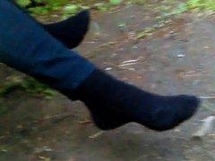 Lotioned Feet in Socks Size 7