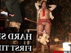 Krakenhot - Saggy tits girl in a BDSM scene