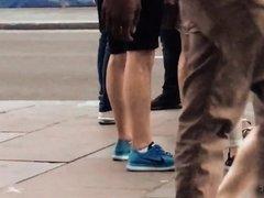 Candid Walk 14 - Grey Yoga Pants