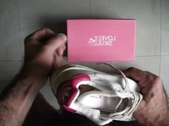 sperme dans adidas stan smith rose