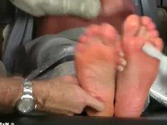 Hot fit business men having tickle time