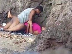 Trini's fucking on the beach