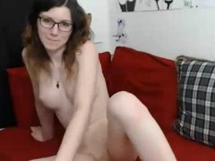 She wears glasses but she has great tits