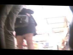 upskirt sous la jupe collant et culotte