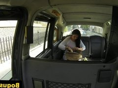 Pussylicked taxi brit fucked ontop car bonnet