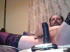Schwarzer Dildo im Arsch mit Orgasmus