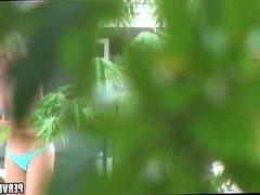 Spying on Nude Sunbather