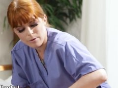 Eden Sin enjoys inside massage with Penny Pax