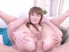 Young Anal Tryouts - Talented cock pleaser sucks long dick