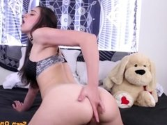 Horny Brunette Fucking Her ass With Dildo