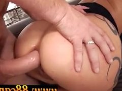 Big booty latina getting facial part 2