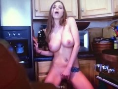 Brooklyn Chase cum on face and tits tribute
