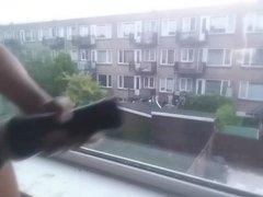 PM fleshlight fuck by the window