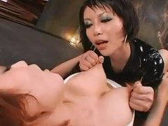 Japanese lesbian nipple pinching nipple pulling ONLY