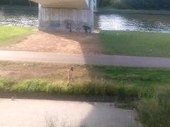 naked & daring under a bridge
