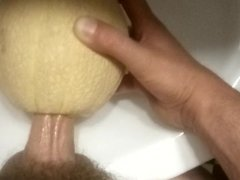 Melon fucking and cum inside outside