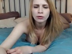 Blond big tits hard nipples nice ass pussy riding dildo