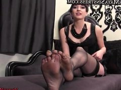 Femdom Mistresses foot fetishand mouth soap domination