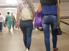 Two girls with perfect asses