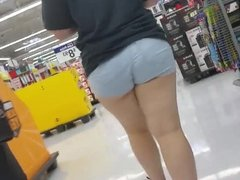 Thick white bbw runner in leggings and thong