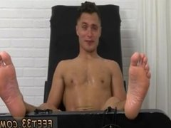Gay twink bare feet Jock Tommy Tickle d