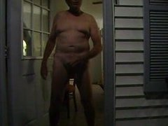 Masturbation at my Motel - In the doorway!