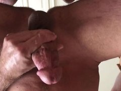 Jerking Off my Big White Cock for CUM