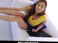 DadCrush - Hot Asian Step daughter offers FootJob