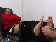 Male slave sucking cum gay Kenny Tickled In