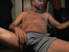 monster daddy jerking off