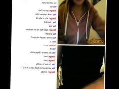 Omegle teen with juge tits play forbig dick