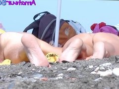 Close-Up PUSSY and ASS Voyeur Beach Compilation Part 2