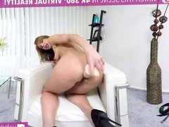 VR PORN-PAOLA MIKE- CLEANING WITH A DILDO IN THE ASS!