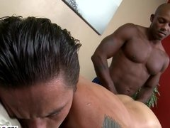 Big black cock anal massage