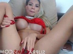 Big boobed latina babe masturbates by supracams .com