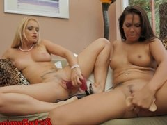 Orally pleasured mistress dominates her sub