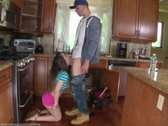 Blonde milf ally's daughter threesome The