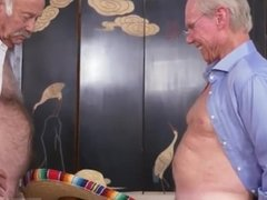 Naked cum covered gloryhole mom helps in
