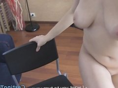 Busty casting amateur gets assfucked