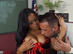 Sexy Big Tit Teacher with Glasses and Stockings